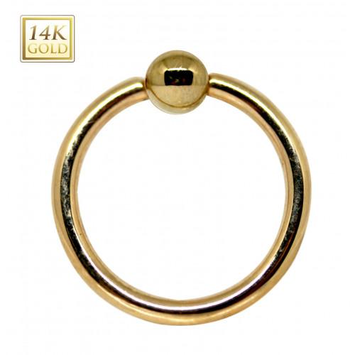 14K Ball Closure Ringl (BCR) Piercing
