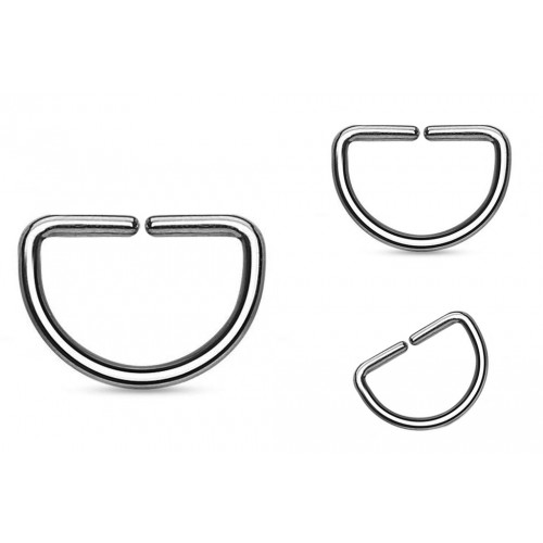 Surgical Steel 316L D-ring - Quality tested by Sheffield Assay Office England