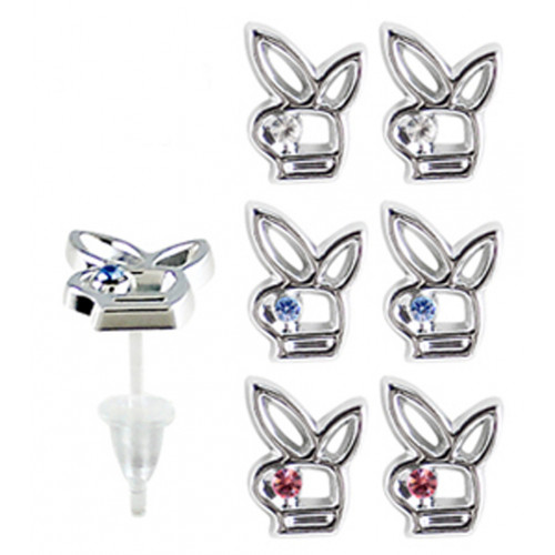 Hypoallergenic Plastic Post Bunny Stud Earrings