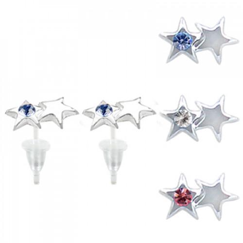 Hypoallergenic Plastic Post Star Stud Earrings