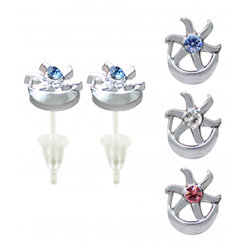 Hypoallergenic Plastic Post Crescent Stud Earrings