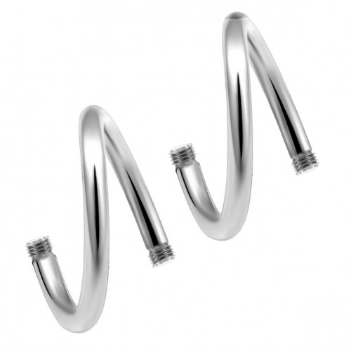 Surgical Steel 316L  Twisted Barbell Body parts ‐ Quality tested by Sheffield Assay Office England