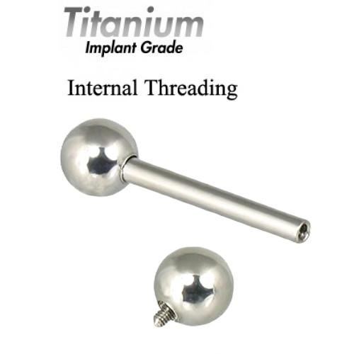 Internally Threaded Titanium Implant Grade STRAIGHT BARBELLS