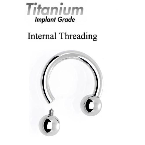 Titanium Implant Grade CIRCULAR BARBELL (CBB) - Internal Threading