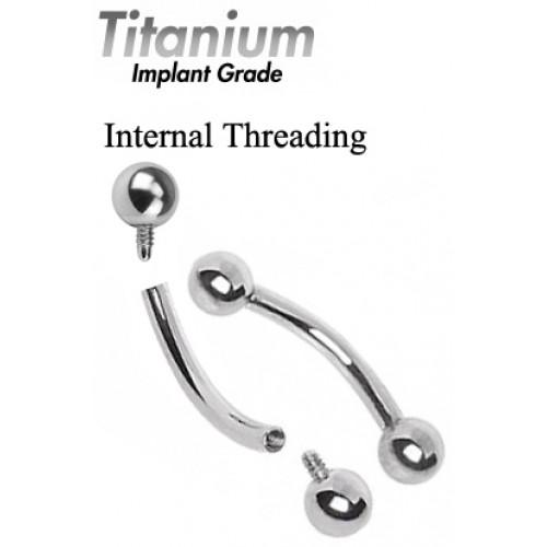 Bent Bar Titanium Internal Threading ‐ Quality tested by Sheffield Assay Office England